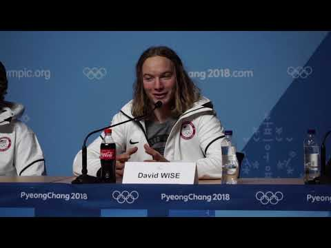 2018 Olympic Press Conference with Gold Medalist David Wise ...