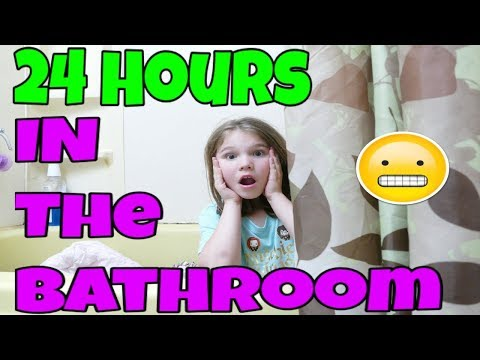 24 Hours In The Bathroom! 24 Hour Challenge with No LOL Dolls