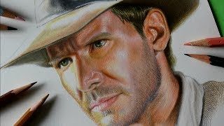 Drawing Indiana Jones - 3D Art -Speed drawing - Time Lapse