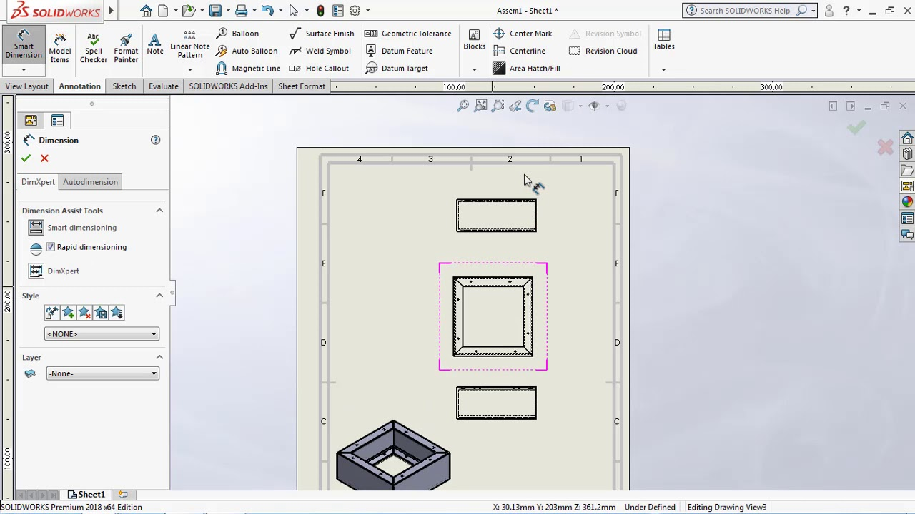 solidwork Drawing (Drawing overview)