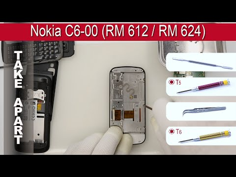How to disassemble 📱 Nokia C6 00 RM 612 RM 624 Take apart, Tutorial