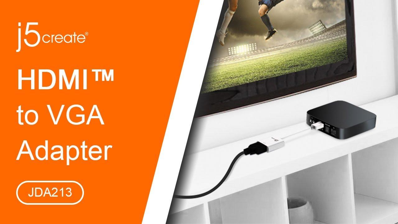 Jda213 Hdmi To Vga Adapter Youtube Kabel Male 15 Meter Sj0039