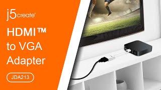 JDA213 HDMI to VGA Adapter