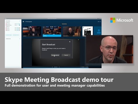 Skype Meeting Broadcast - What it is and how to use it