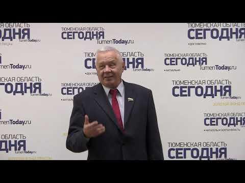 Депутат Тюменской областной Думы Владимир Столяров поздравил редакцию пением.