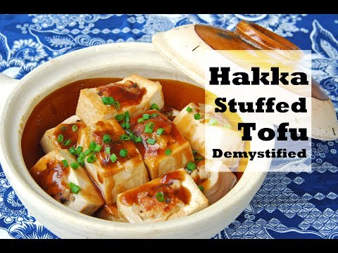 How to Make Hakka Stuffed Tofu (客家酿豆腐)