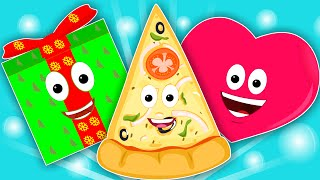 the shapes song | learn shapes | nursery rhymes | kids songs | baby videos