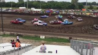 Figure 8 Racing in Hampton @ 2pm 8/19/18 Stock Feature Pt 1