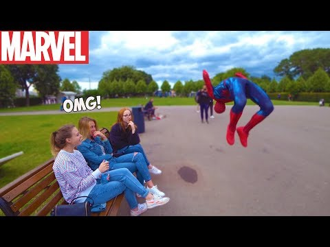 Человек паук в России | Spiderman In Real Life ПРАНК #spiderman #marvel (Кирилл Шучер)