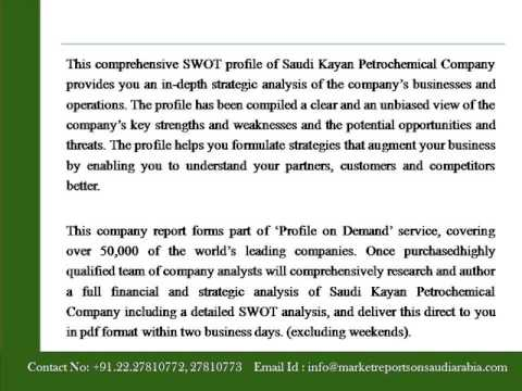 Saudi Kayan Petrochemical Company   Financial And Strategic