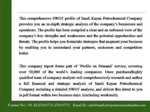 Saudi Kayan Petrochemical Company   Financial And Strategic