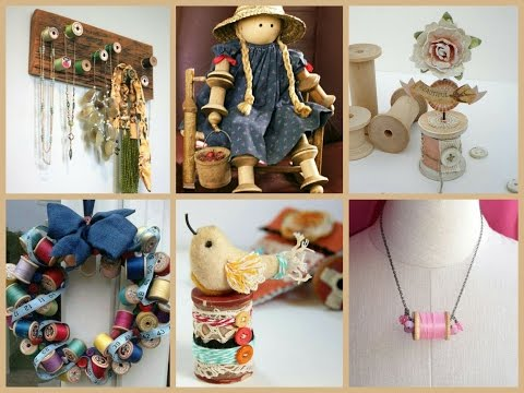 thread-spool-crafts-ideas---diy-wooden-thread-spools-inspo