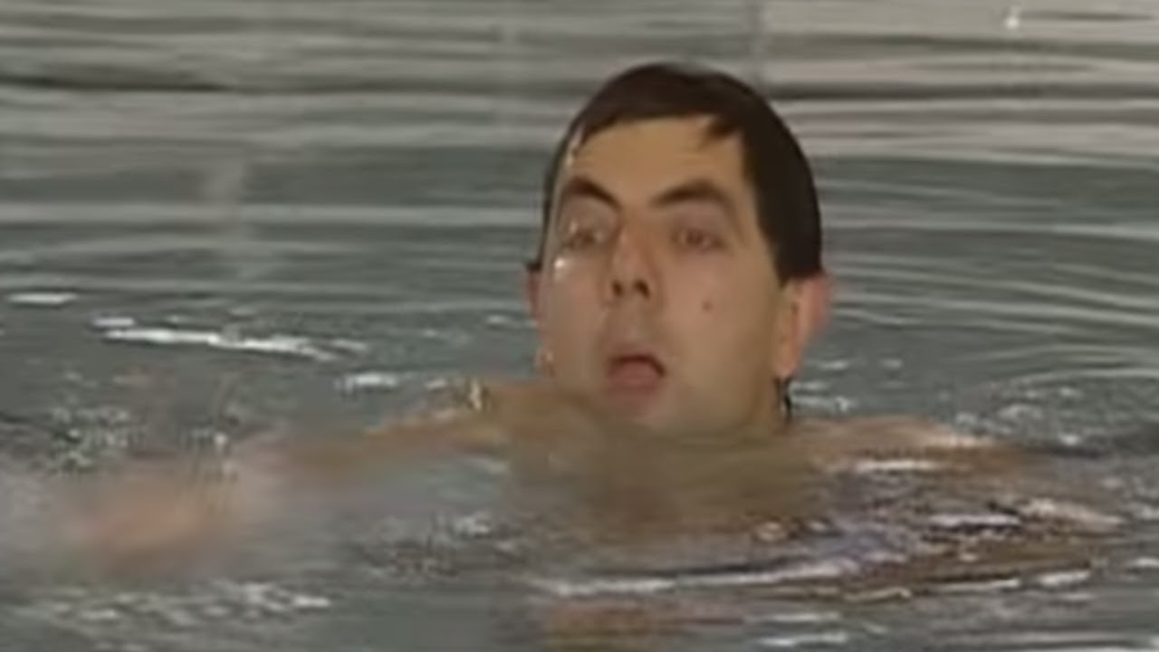 swimming mr bean official youtube