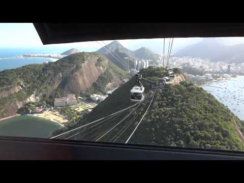Cable Car Ride Down Sugarloaf Mountain Rio Brazil
