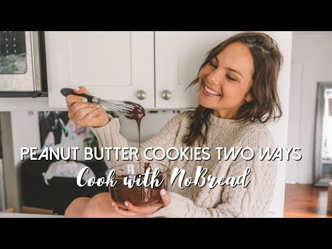 Peanut Butter Cookies... TWO WAYS   COOK WITH NOBREAD