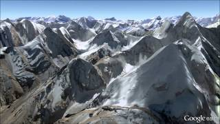Karakoram/Himalayas Fly-Through - Google Earth