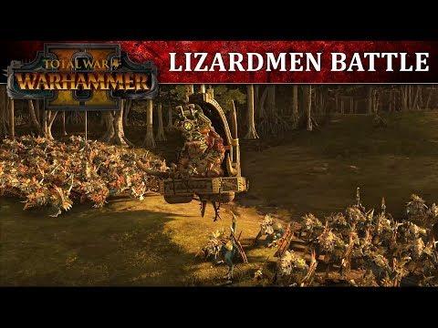 Total War: WARHAMMER 2 - геймплей за Ящеролюдей