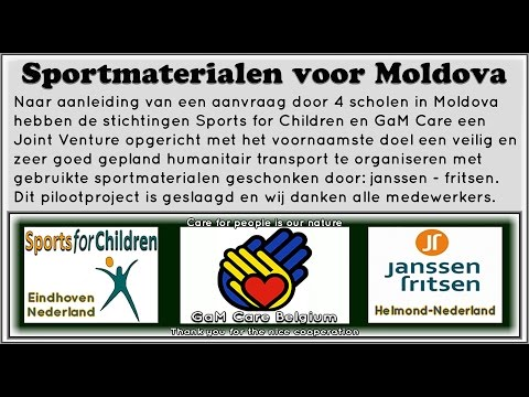 Sportmaterialen voor Moldova -Sports for Children - GaM Care.