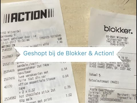 Geshopt Bij De Blokker Action Ramonaschoon Youtube