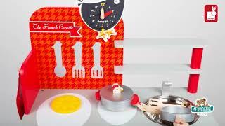 Dřevěná magnetická kuchyňka Francouzský kohout Max