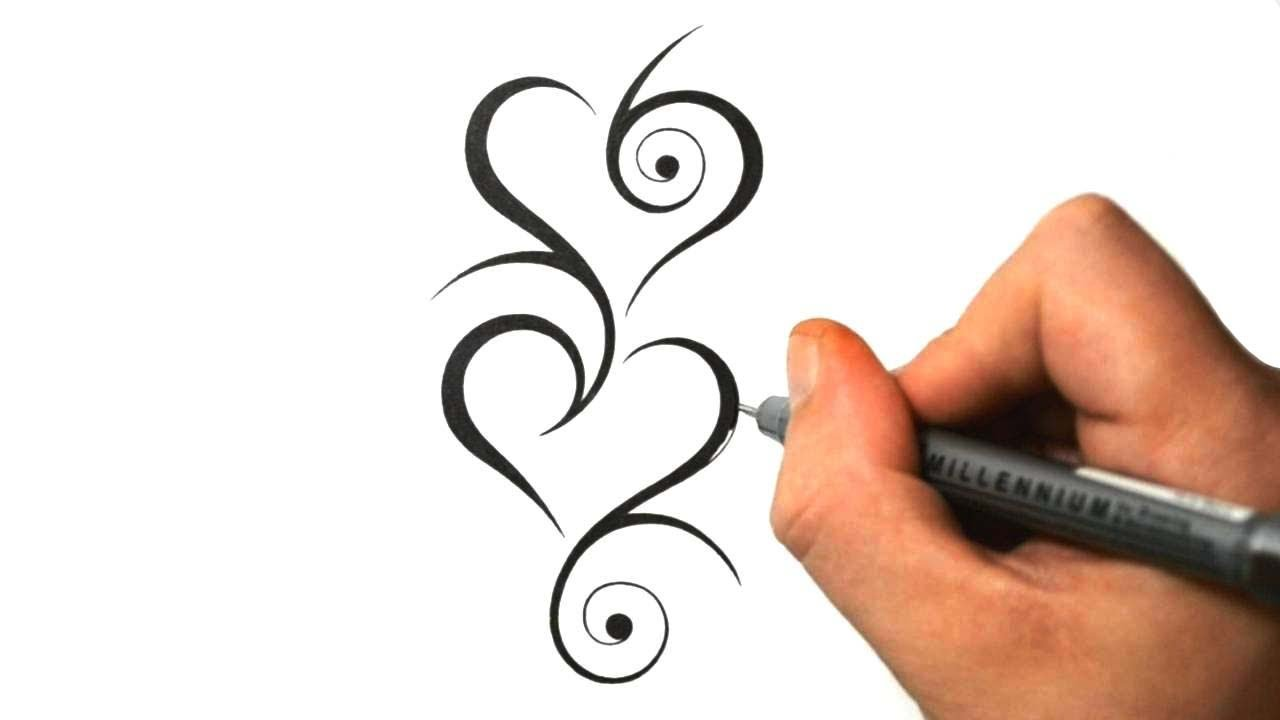 Designing tribal hearts together tattoo design 8 youtube