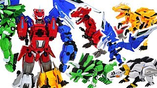 Ultra Dino Force! 5 in 1 transform dinosaurs combine! #DuDuPopTOY