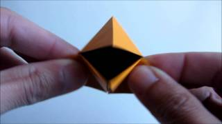 Origami Snapping Crow In Action