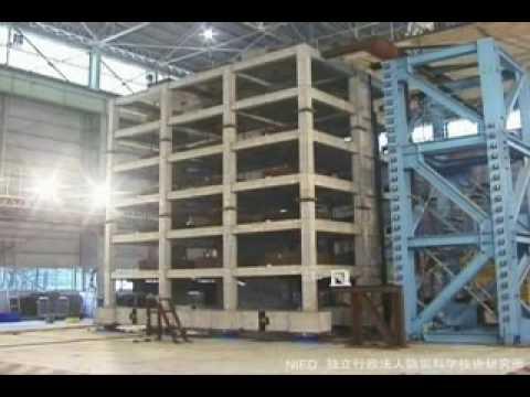 Prova sisma 6 8 casa cemento armato 6 piani youtube for Piani di costruzione casa