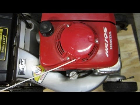 How To Replace The Starter Rope On A Honda Hrx217 Lawn