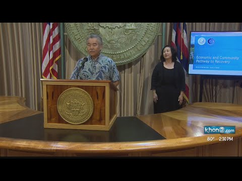 COVID-19 briefing with Gov. Ige, Lt. Gov. Green, DOH, and Economic Recovery and Resiliency Navigator
