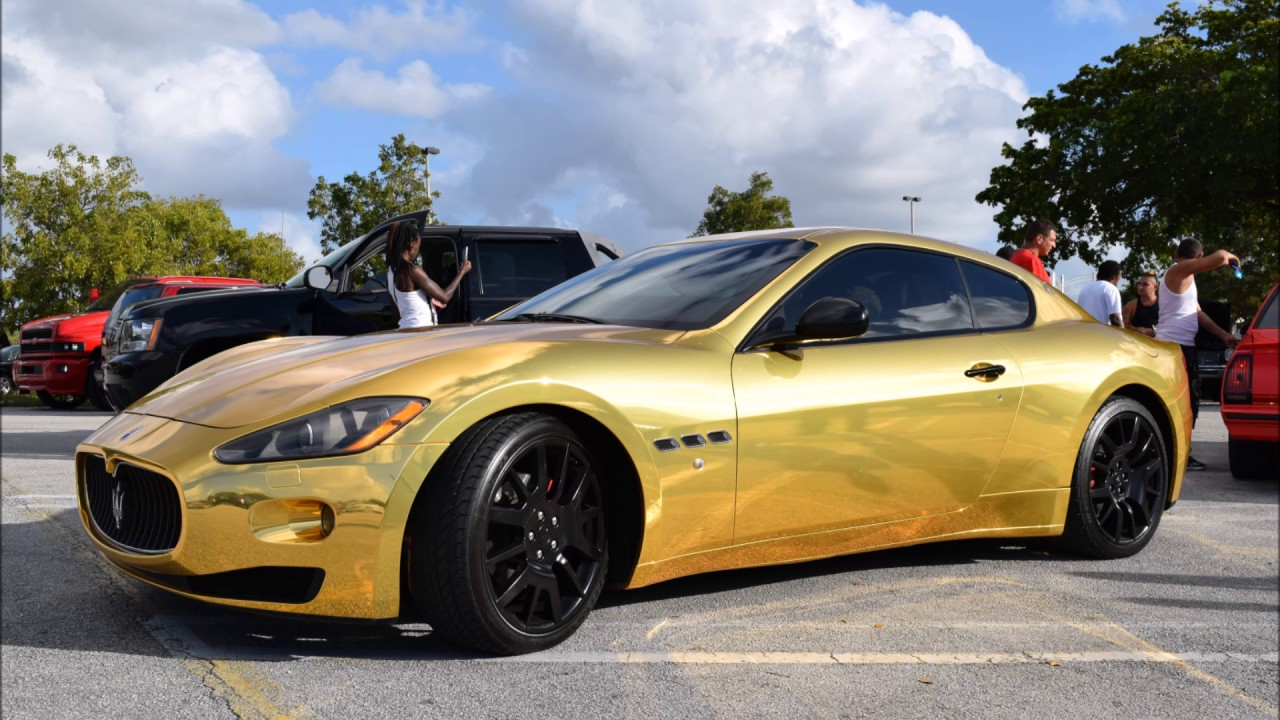 gold wrapped maserati gran turismo youtube. Black Bedroom Furniture Sets. Home Design Ideas