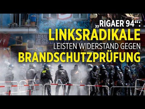 """Berlin """"Rigaer 94"""": Langwieriger Polizeieinsatz wegen Brandschutzprüfung erst nach Stunden beendet"""