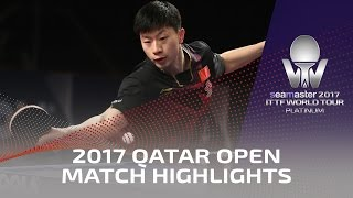 2017 Qatar Open Highlights: Ma Long vs Fan Zhendong (Final)