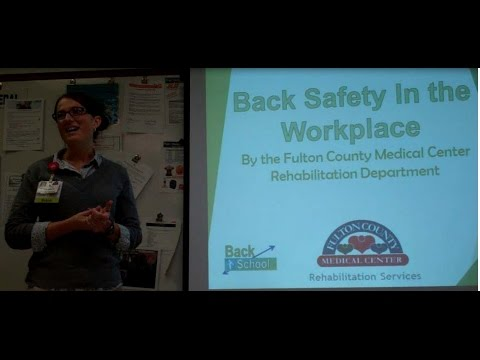Back Safety in the workplace - April 1, 2015