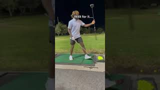 They gave him a wooden driver and he still delivered 😳👏   #Shorts