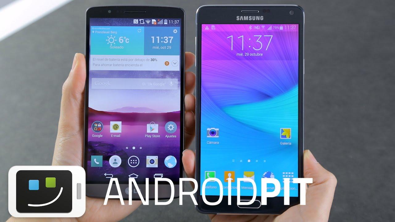 Galaxy Note 4 vs LG G3 - Comparación en español