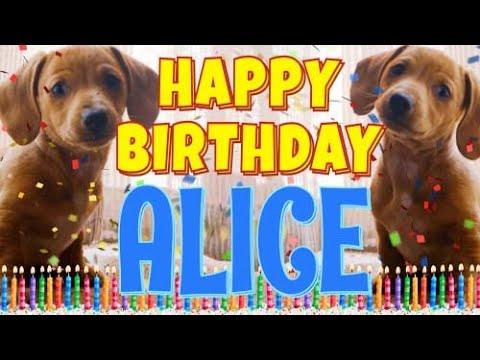 Happy Birthday Alice (Personalized)