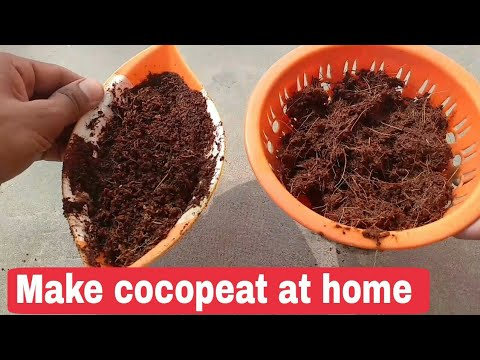 How to make Cocopeat from coconut, how to make Cocopeat at home
