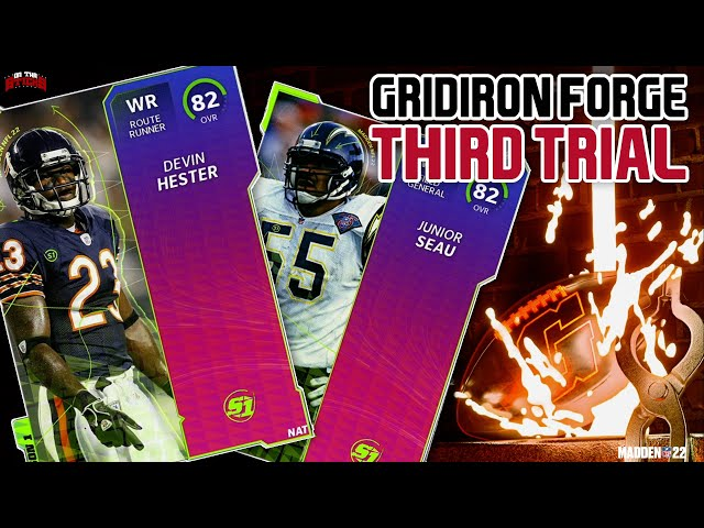 Madden 22 Ultimate Team Gridiron Forge Third Trial Solos + Get A FREE Devin Hester Or Junior Seau!!!
