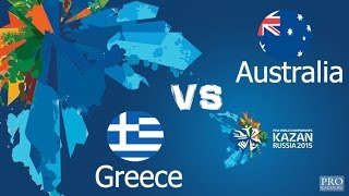 Kazan 2015 | Women's Water Polo | Australia vs Greece | Waterpolo