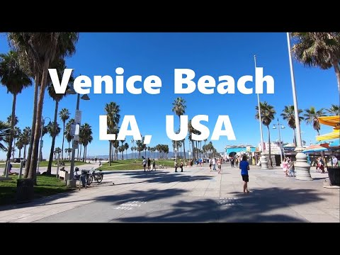 Walking Around Venice Beach, Los Angeles, California. Very Nice Location!