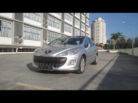 2011 Peugeot 308 Turbo Start-Up, Full Vehicle Tour, and Quick Drive