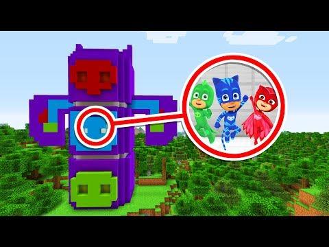 Minecraft: We FOUND PJ MASKS SECRET HQ (Ps3/Xbox360/PS4/XboxOne/PE/MCPE)