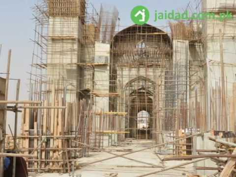 world 3rd largest mosque in Bahria Town karachi Pakistan construction in progress real time