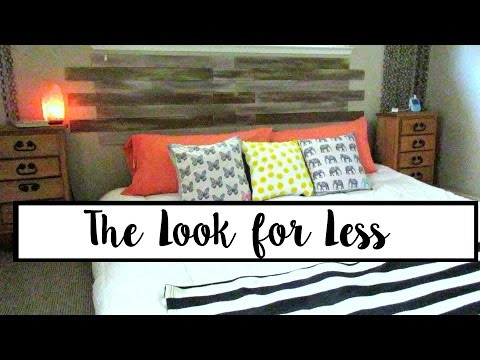The Look for Less - Wood Accent Wall/Headboard