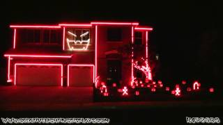 Repeat youtube video Halloween Light Show 2012 - Gangnam Style