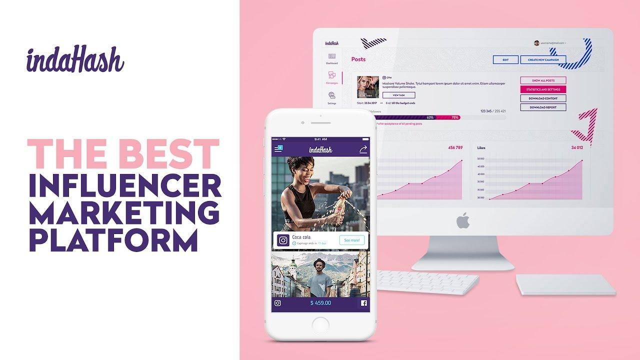 indaHash   influencer marketing app for brands and influencers
