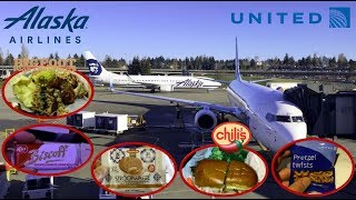 Airline & Airport Food Review | Alaska & United Airlines