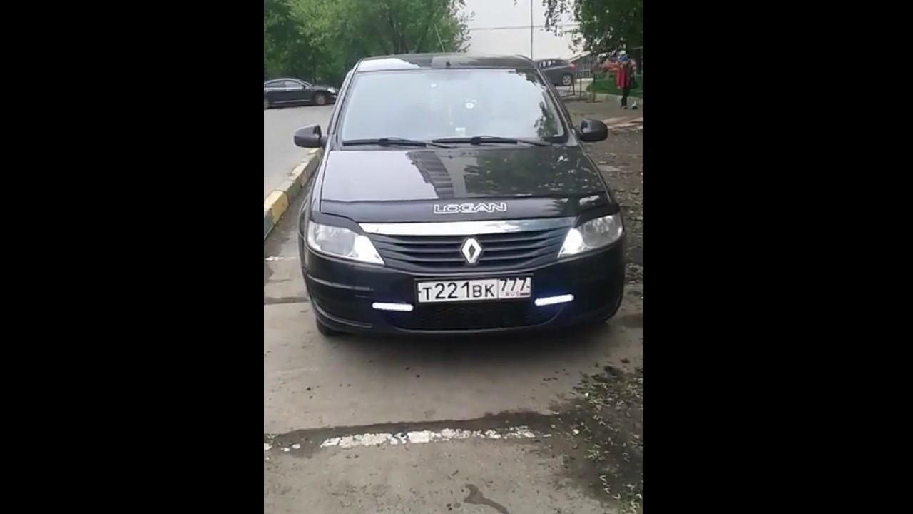 ДХО + ПОВОРОТ в Renault Logan (DRL + TURN SIGNAL)