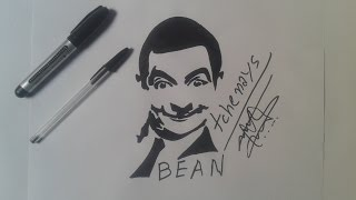 how to draw MR.BEAN tattoo